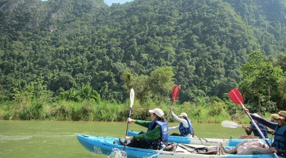 Vang Vieng Caving and Kayaking